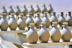 陶瓷干燥花瓶 库存照片