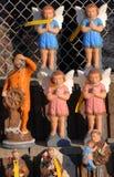陶瓷庭院装饰品 库存图片