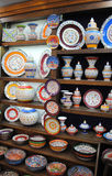 陶瓷待售在商店,伊斯坦布尔01 库存照片