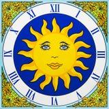 陶瓷时钟 免版税库存照片