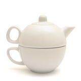 陶瓷杯子茶壶 免版税库存图片
