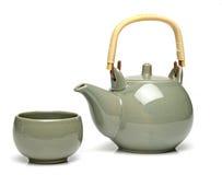 陶瓷杯子茶茶壶 免版税图库摄影