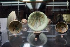 陶瓷板材在博物馆 图库摄影