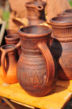 陶瓷水罐 免版税库存照片