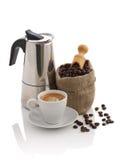 陶瓷浓咖啡杯子 库存照片