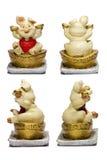 陶瓷猪中国幸运的金钱 库存照片