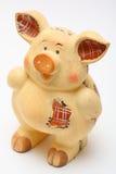 陶瓷猪 免版税库存照片