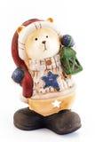 陶瓷玩具熊,灯 库存图片