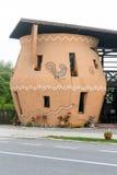 陶瓷瓦器商店在霍雷祖,罗马尼亚 库存照片