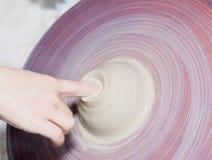 陶瓷瓦器生产 免版税库存图片