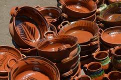 陶瓷瓦器由黏土, México制成 免版税库存照片
