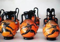 陶瓷瓦器,希腊 库存图片