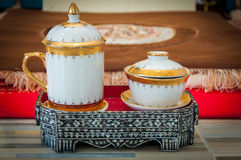 陶瓷的Benjarong 免版税库存图片