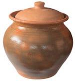 陶瓷盒盖老罐 库存图片