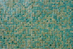 陶瓷砖墙壁绿松石 免版税图库摄影