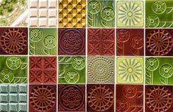 陶瓷砖多色装饰背景 库存图片