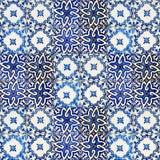 陶瓷砖拼贴画从葡萄牙的 库存照片