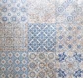 陶瓷砖样式典雅的葡萄酒和托斯卡纳花 Beauti 库存照片