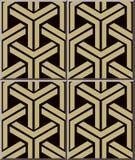 陶瓷砖样式376 3D三角几何十字架框架 免版税库存照片