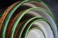 陶瓷碗摘要 免版税图库摄影