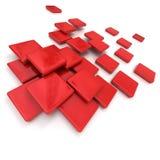 陶瓷红色瓦片 向量例证