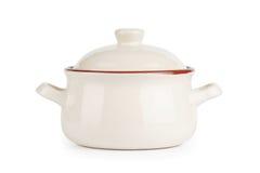 陶瓷罐。 盛汤盖碗 免版税图库摄影