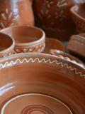 陶瓷罐在市场上 免版税库存照片