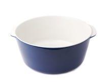 陶瓷罐平底锅被隔绝在白色背景 免版税图库摄影