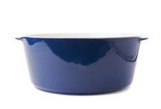 陶瓷罐平底锅被隔绝在白色背景 免版税库存图片