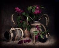 陶瓷罐绳索 库存照片