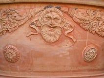 陶瓷罐背景 库存图片