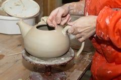 陶瓷艺术家 库存照片