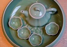 陶瓷茶罐 免版税库存图片
