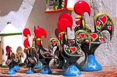 陶瓷葡萄牙雄鸡 库存照片