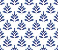 陶瓷蓝色样式传染媒介 皇族释放例证