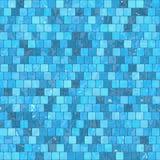 陶瓷蓝色马赛克背景无缝的纹理在游泳池或厨房 皇族释放例证
