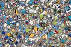 陶瓷装饰的篱芭 免版税图库摄影