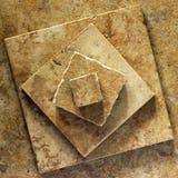 陶瓷金字塔瓦片 免版税库存照片