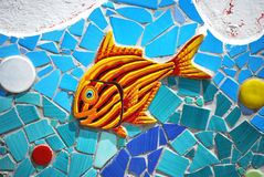 陶瓷鱼阿马尔菲海岸,意大利 图库摄影