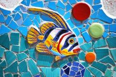 陶瓷鱼阿马尔菲海岸,意大利 免版税库存图片