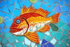 陶瓷鱼阿马尔菲海岸,意大利 库存图片