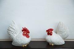 陶瓷鸡 免版税库存照片