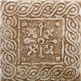 陶瓷decoretive方形瓦片 图库摄影