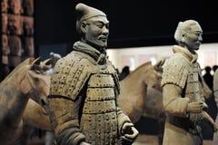 陶砖土地战士 免版税库存图片