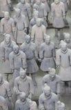 陶砖雕象土地战士 库存照片