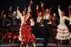 陶醉的头发香火西班牙佛拉明柯舞曲这奥地利的世界舞蹈 库存图片