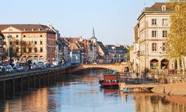 隆河看法在史特拉斯堡 免版税库存照片