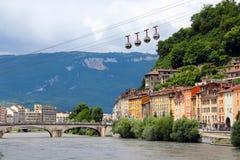 隆河,格勒诺布尔,法国 库存照片