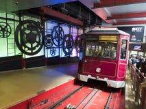 隆隆声电车驻地 中区,香港,中国 免版税库存图片