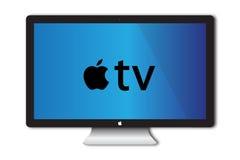 苹果计算机电视概念 免版税库存图片